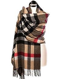 Edinburgh 100% Lambswool Scottish Tartan Multicolor Stole Thomson Camel - Maxi Check (One Size)