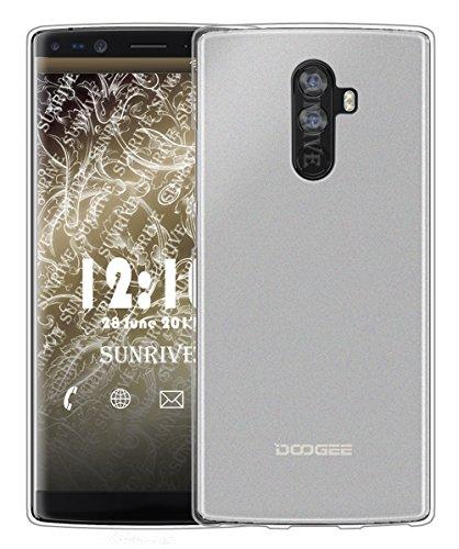 Sunrive Für DOOGEE Mix 2 Hülle Silikon, Handyhülle matt Schutzhülle Etui Case Backcover für DOOGEE Mix 2 5,99 Zoll(TPU Kein Bild)+Gratis Universal Eingabestift