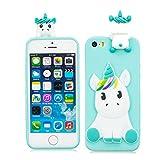 EarthNanLiuPowerTu iPhone 5 Se 5S 5G Coque Gel Mou de Silicone de Silicone Mignon 3D...