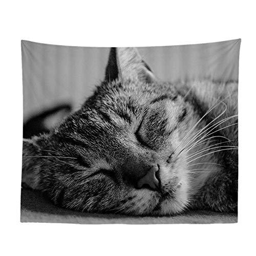 Jtxqe carino serie animale gatto casa pittura soggiorno camera da letto comodino sfondo muro di arte arazzo 244 150-230