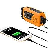 IntiPal FM Solar Radio Solarradio mit Kurbel Kurbeldynamo LED Taschenlampe Notfall Ernstfall USB Handy Ladeger?t Camping Outdoor (Gelb) - 6
