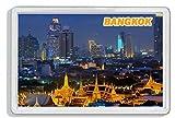 AWS - Imán de PVC duro con diseño de la ciudad de Bangkok, Tailandia - Souvenir para la nevera de plástico duro con imagen fotográfica de la ciudad