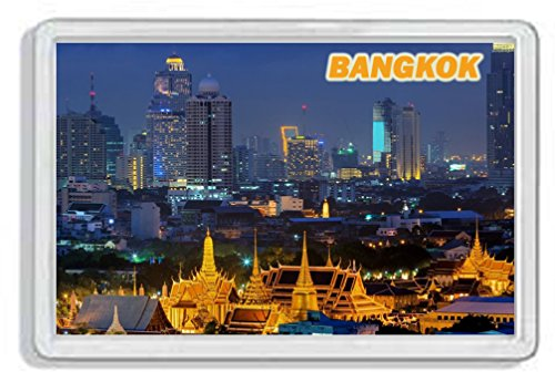 AWS Magnet PVC harte Bangkok City Thailand Thailand Souvenir Magnet Fridge Magnet Magnet für Kühlschrank aus hartem Kunststoff mit Bild Foto Stadt