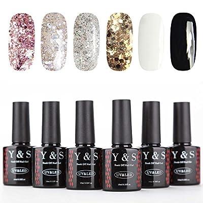 Y&S 6 Colours Gel Nail Polish Soak Off Lacquer UV LED Lamp Manicure 10ML Nail Art Kits