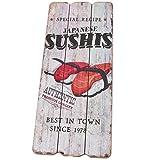 Dadeldo Living & Lifestyle Holzschild Japanese Sushi Design MDF 34x15cm bunt Wand-Bild Deko