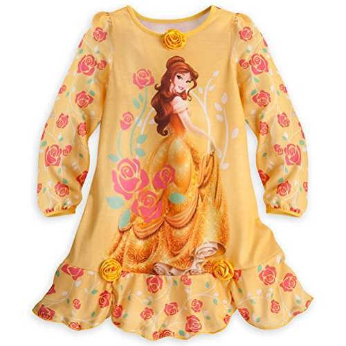 Store Prinzessin Belle Little Girl Langarm Nachthemd Pyjama Gr??e 5/6 (Langarm-pyjamas Disney Prinzessinnen)