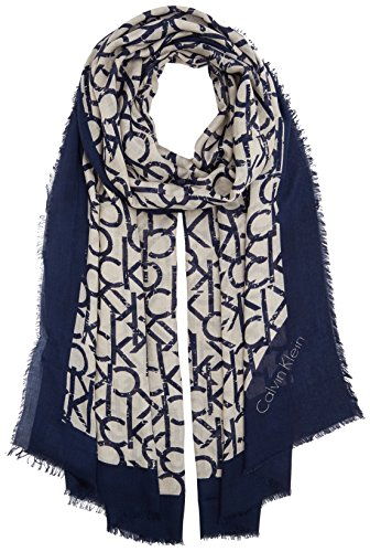 Calvin Klein Jeans Damen Trilby CK Allover Long Scarf, Beige (Surplus 098), One Size
