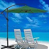 Generic 3 m Banana Sonnenschirm für Sonnenschirm Ampelschirm Rattan Set zum Aufhängen<1&2472*1>