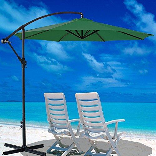 Preisvergleich Produktbild Generic 3 m Banana Sonnenschirm für Sonnenschirm Ampelschirm Rattan Set zum Aufhängen