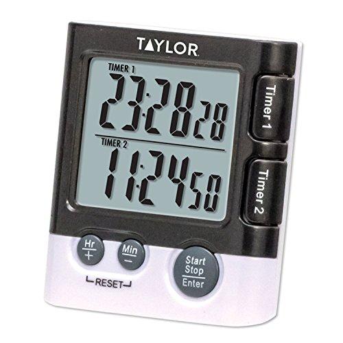 Taylor Die Produkte die doppelte Event Digitaler Timer/Uhr, Schwarz, 1 (Taylor Thermometer)