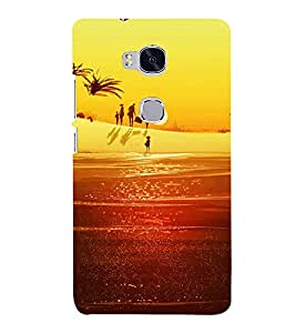 printtech Family Beach Vacation Back Case Cover for Honor 5X
