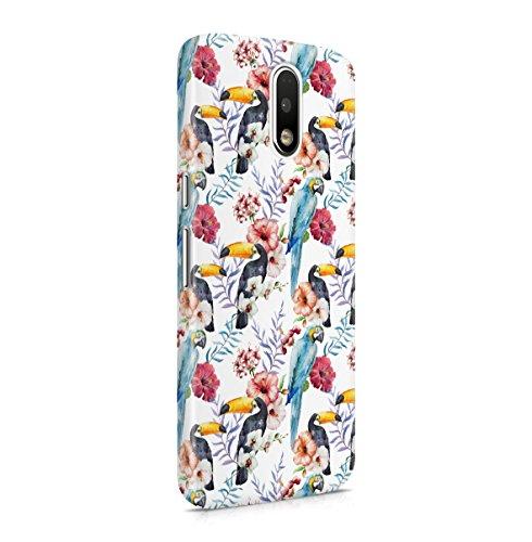 Tuco Tucan & Parrot Birds Tropical Hawaii Exotic Floral Pattern Print Motorola...