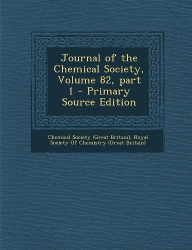 Journal of the Chemical Society, Volume 82, Part 1
