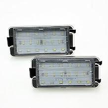 JOM 82802 Licence Plate LEDs, 2 pieces, SEAT ALTEA 04 – 14, Arosa 97 – 04, Ibiza, Cordoba, 99 – 09, Leon 2 99 – 06, TOLEDO 3 04 – 09, juego de 2