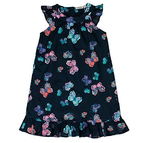 SALT AND PEPPER Mädchen Kleid Dress lila mit Schmetterlingen, Mehrfarbig (Original 099), 116 (Herstellergröße: 116/122)