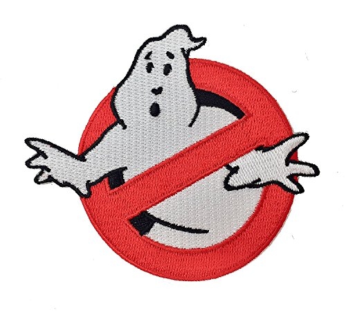 Super6props Ghostbusters Gesticktes Eisen auf Flecken 80mm x 80mm Cosplay Kostüm und Abendkleid.