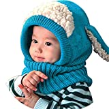 Lukis Bonnet Tour du Cou Enfant Cagoule Bébé Garçon Fille Cache Oreilles Chapeau Tricoté Hiver 0-3 Ans