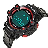 Rcool Relojes suizos relojes de lujo Relojes de pulsera Relojes para mujer Relojes para hombre Relojes deportivos,Relojes deportivos a prueba de agua con cuarzo digital LED
