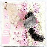 OFVV Tappeto Sniffing Per Cani Allenamento Perolfatto Dei Sentore Olfattivo Tappetini Per Lesercizio Fisico, Foraggiamento Naturale Giocare Con I Giochi, Il Naso Per Gli Animali Domestici,Pink