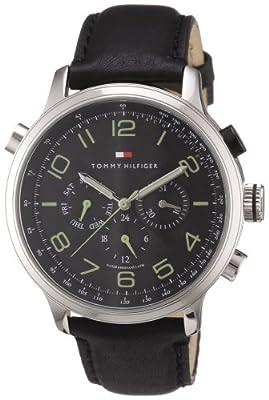 Tommy Hilfiger Watches 1790768 de cuarzo, correa de piel color negro