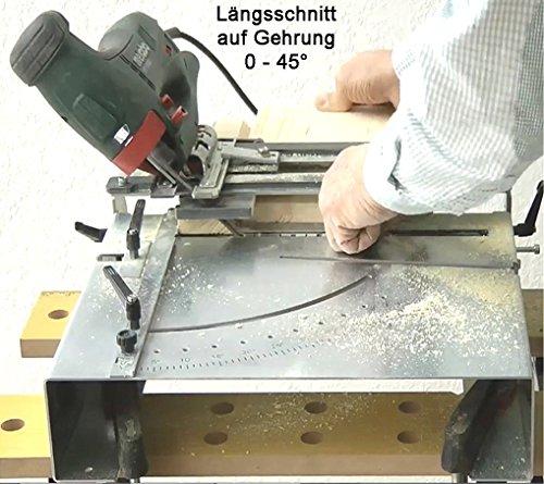 Stichsägetisch Trenn-Biber 012L+ Bosch Metabo Festool u. 3 lange Holz T-Schaft Stichsägeblätter für Stichsägen als Laminat Schneider, Sägestation - 8