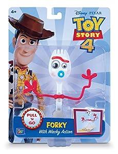 MTW Toys 64472 - Figura de acción de Disney Pixar Toy Story 4-Forkie, Figura articulada con Motor de Marcha atrás, Aprox. 15 cm, Multicolor