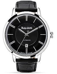 Set reloj y bolígrafo Philip Watch Grand Archive 1940automático Black hombre r8221598004