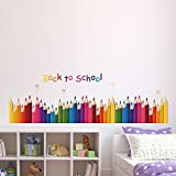 #9: Amazon Brand - Solimo Wall Sticker for Kids' Room (Pop of Colours, Ideal Size on Wall: 137 x 43 cm)