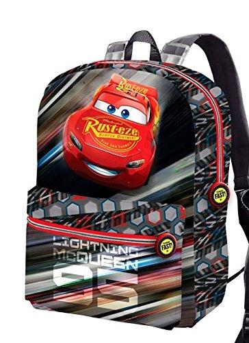 Karactermania Cars 3 Lightning-Reversible 2-in-1 Backpack (Small) Zainetto per bambini, 31 cm, 7.5 liters, Nero (Black)