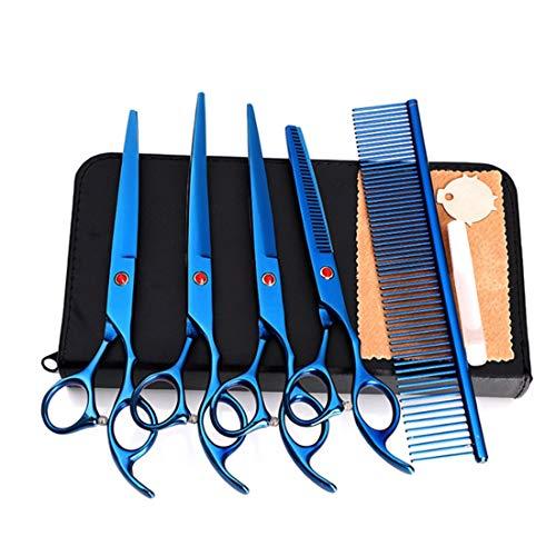 JIAJ Hair Clipper Forbici for Forbici Forbici for Animali da 7 Pollici Forbici for Taglio Diritto Professionale, su e Giù for arricciare Le Forbici Impostare Le Forbici for Tagliare i Capelli