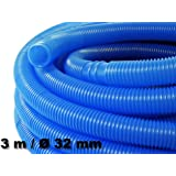 3m - 32mm - Tuyau de piscine flottant sections double manchon 165g/m - Made in Europe