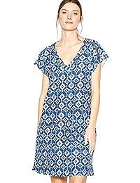 340a9ea6454 Principles Womens Blue Tile Print Knee Length Dress 10