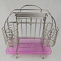 Acciaio inossidabile Hanging Basket Rack a parete cucina condimento