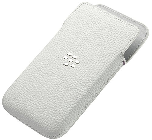 BLACKBERRY Leather Pocket white fuer Classic