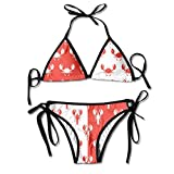 Lobster And Crab Sexy Women Beach Swimwear Two Pieces Bathing Suit Bikini Top
