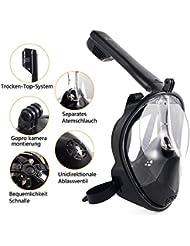 Tauchmaske, Seaview 180 ° Easybreath Schnorchelmaske für Erwachsene und Jugendliche, Revolutionäre voll trockenen Tauchermaske mit Anti-Fog-und Anti-Leak-Technologie - By T STREET