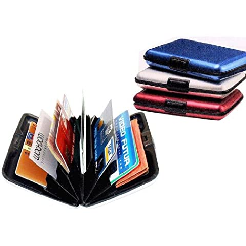 Sonline Custodia porta ID carta di credito di alluminio, peso leggero - ROSSO