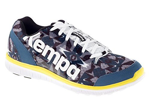 Kempa K-Float, Chaussures de Handball Mixte Adulte Multicolore (Pétrole/Blanc/Noir)