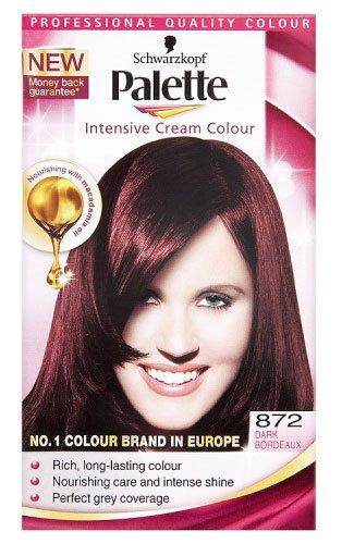 Schwarzkopf Palette Intensive Cream Permanent Hair Colour 872 Dark Bordeaux