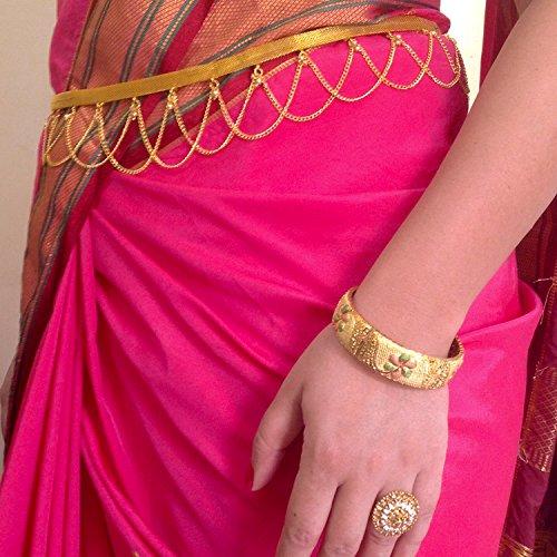 Traditional gold polished kamarpatta, Kamar chain, tagdi, Kardhani, bellychain, waist chain, hip chain, Kamarband, gold polished ottiyanam vaddanam waistchain, ottiyanam, waist jewellery gives women a