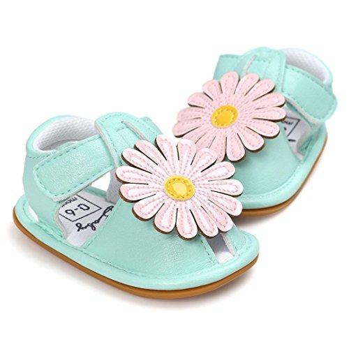 Pour 0-18 mois filles ,Transer ® Jeunes filles mignonnes fleurs de bébé sandales d'été Vert