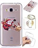 Samsung Galaxy J3 (2016) J310 TPU Coque Housse étui transparent Cartoon Samsung Galaxy J3 (2016) J310 Transparent Couverture Père Noël Cadeau du Père Noël – Keychain Photo Frame (* / 35) (4)
