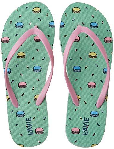 Lavie Women's 4430 Green Flip-Flops and House Slippers - 5...