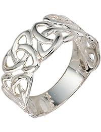 Anillo Ladies 925 plata esterlina Anillo ancho