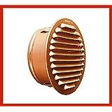 Rejilla de ventilación redonda cobre con medias y rejilla contra insectos en 80hasta 200mm de diámetro