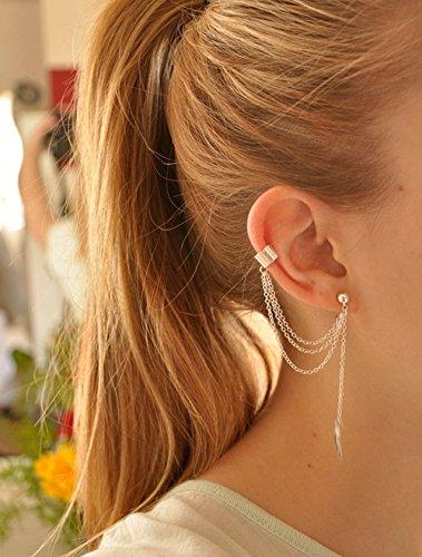 Yean Ohrringe für Frauen und Mädchen Paar für Mädchen (Silber Farbe)