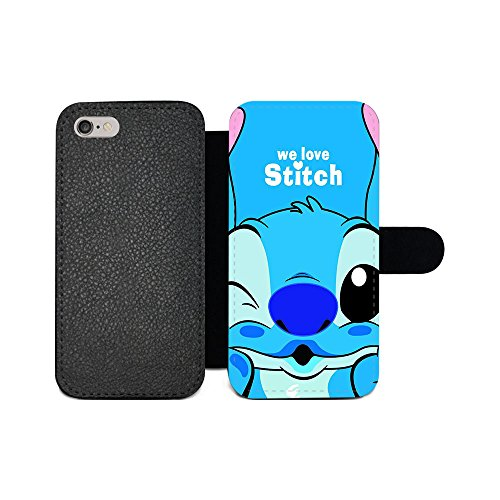 gspstore iPhone 6/iPhone 6S Geldbörse Fall, Lilo & Stitch Disney Cartoon Pattern Flip PU Leder Wallet Fall mit Kartentaschen für iPhone 6/iPhone 6S, Color 10