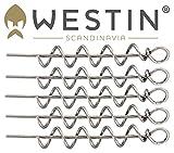 Westin Pro Shallow Screw - 5 Spiralen 4,7cm für Gummifische, Spiraladapter für Gummiköder, Korkenzieher für Gummifisch, Durchmesser:7mm