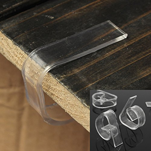 INOVEY 8St/Lot Klar Kunststoff Transparente Tischdecke Cover Clips Für Hochzeit Requisiten Tabelle Sockelleisten Schnalle
