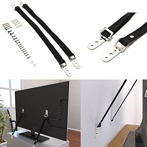 19 Flachbild-fernseher (2Stück TV Träger Möbel Anti-Kipp-Straps flach Bildschirm Heavy Duty Strap)